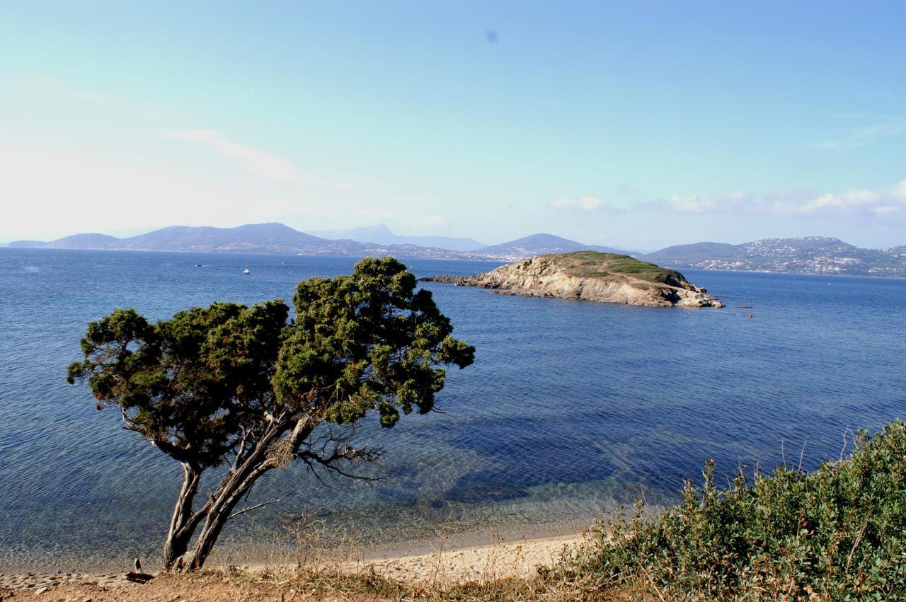 Pointe des Chevaliers - au loin le Mt des oiseaux et CARQUEIRANNE