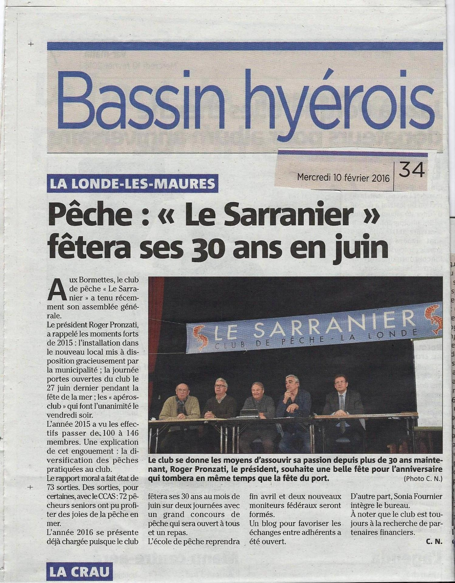 2016/02/10  - article de Var Matin