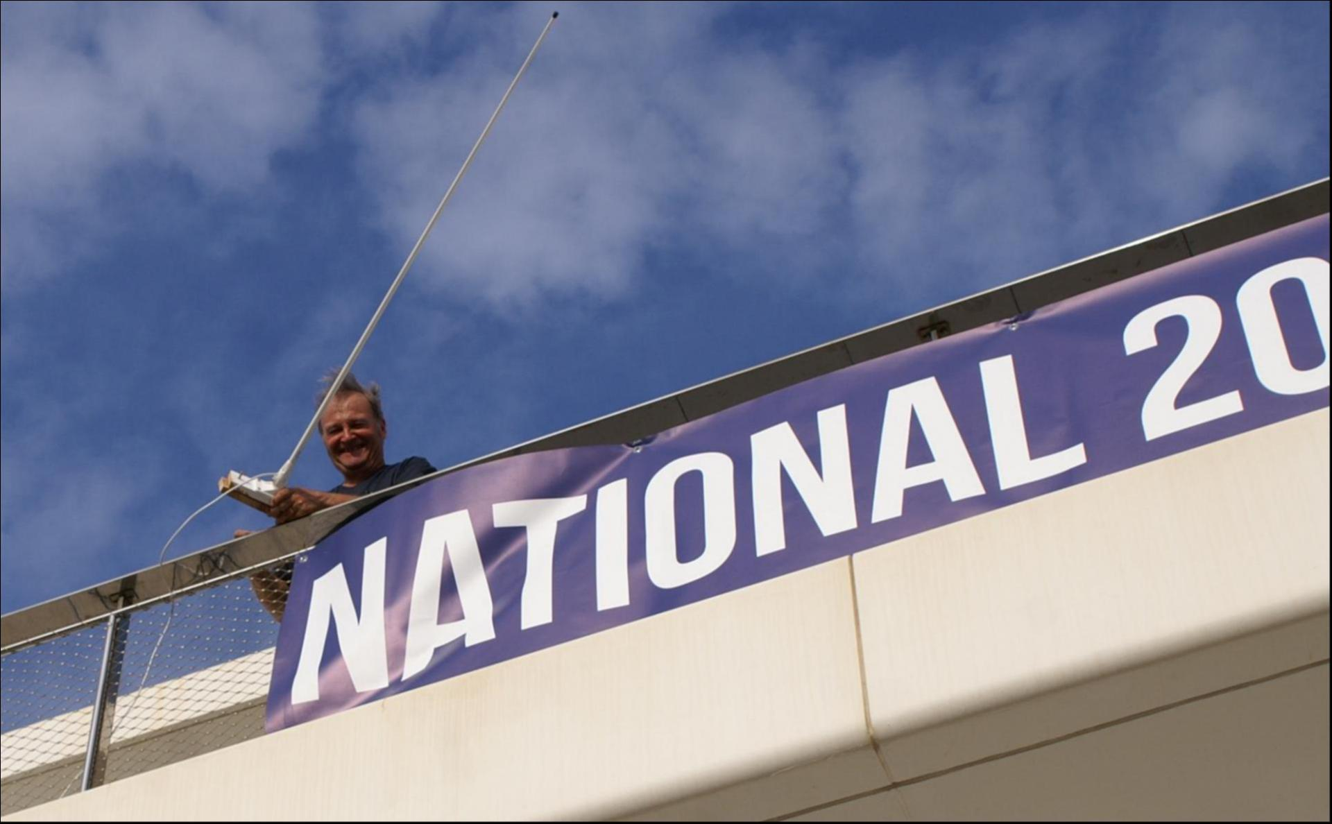 Jean-Georges DENIZOT démonte l'antenne, la fête est finie