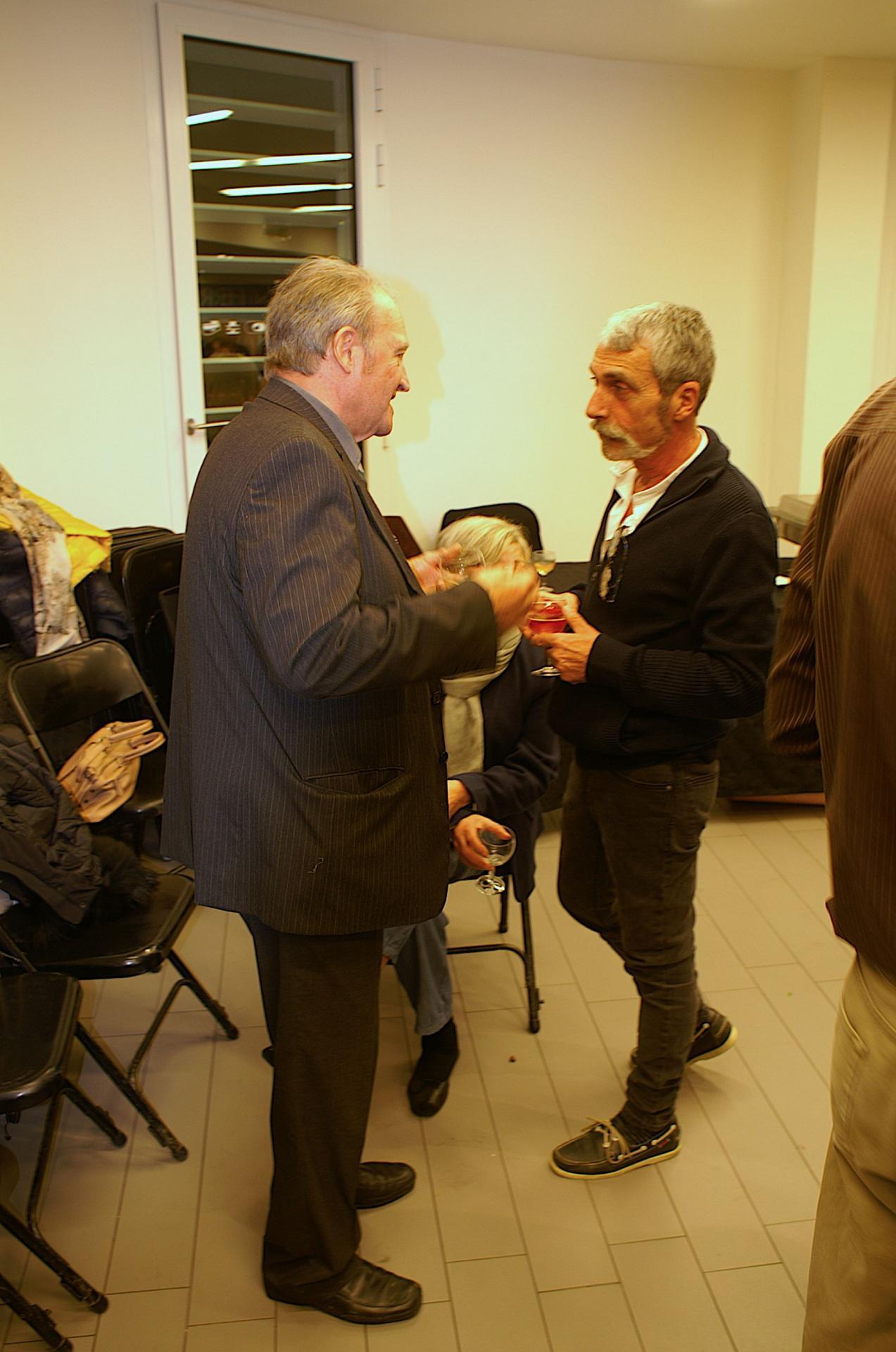 Notre président avec Alain.