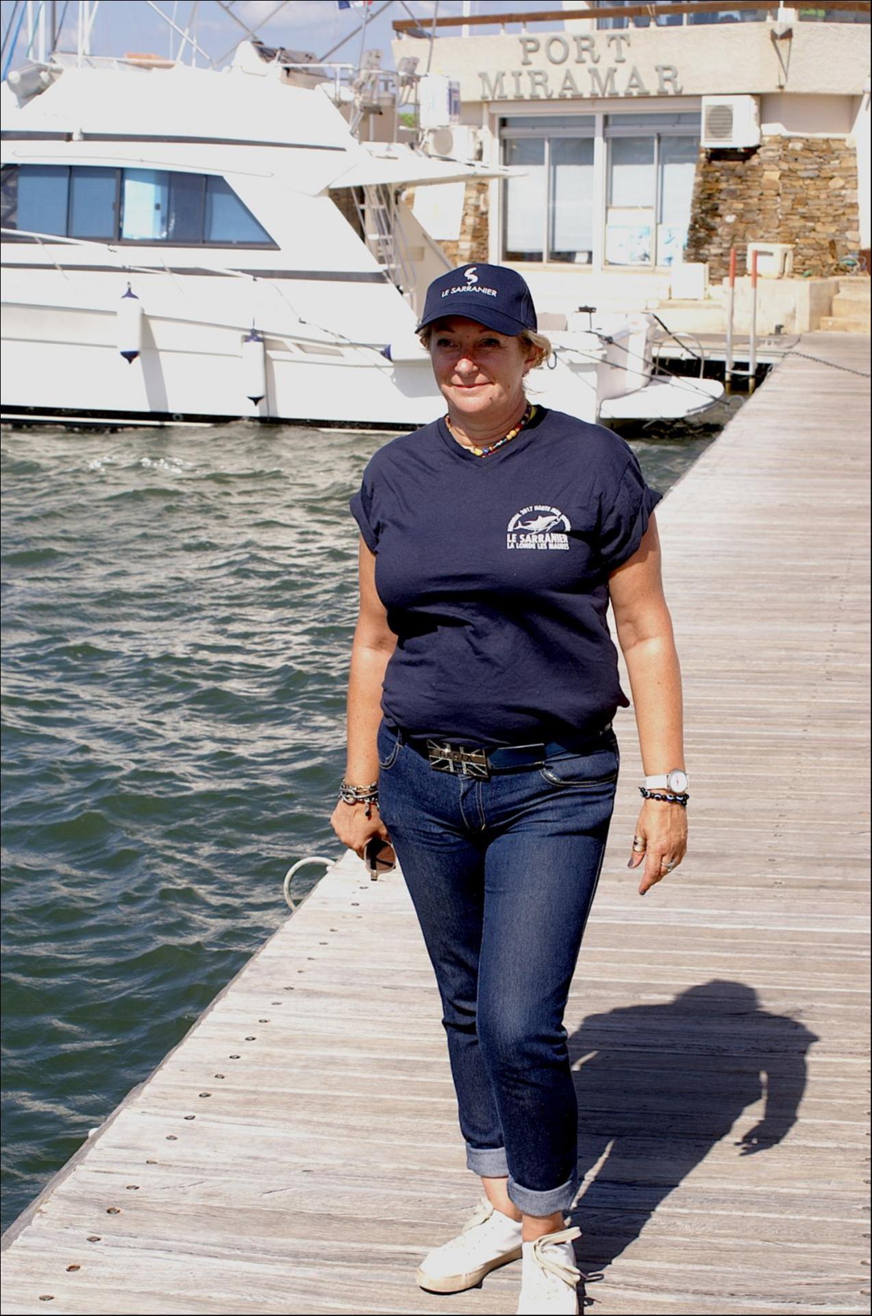 Sandrine part à l'accueil des bateaux